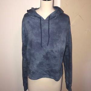LLD  mid crop tye dye hoodie. 🌈💯🕺😇